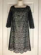 Alex Marie Tamora Lace Womens Little Black Dress Lined 3/4 Sleeve Petite Size 2P
