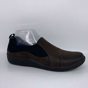 Clarks Cloudsteppers Sillian Paz Brown Black Loafer Women Size 9.5 M