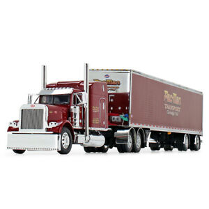 DCP PAC MAN TRANSPORT PETERBILT 379 63 MID-ROOF SPREAD AXLE TRAILER 1/64 60-0854