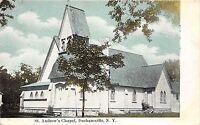 B45/ Durhamville New York NY Postcard c1910 St Andrew's Chapel Building