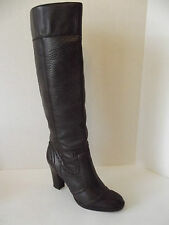 MICHAEL KORS Brown Quality Leather Wing Tip BOOTS Heels Womens Shoes Sz 8 1/2 M