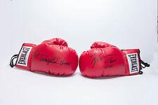 mike tyson boxing gloves rare perfect set dual autograph PSA DNA