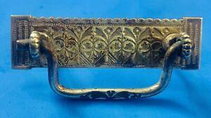 "Brass Art Nouveau Victorian Eastlake Antique Bail Drawer Pull 2 3/8"" centers"