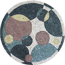 Modern Bubbles Medallion Design Floor Pool Garden Home Marble Mosaic MD972