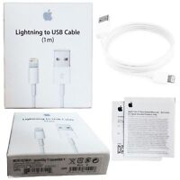 New Original Apple Lightning to USB Cable 1m iPhone 5S 6 6S 7 - Buy 3 Get 2 Free