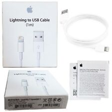 100x New Apple Lightning Cable 1m Retail Box - iPhone 5 5S 6 6S 7 Lot of 100
