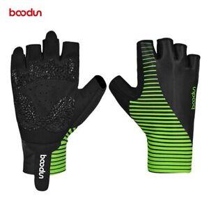 Striped Design Cycling Road Bike Gloves Microfiber Non-slip Breathable Gloves