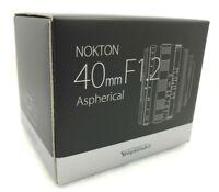 New VOIGTLANDER NOKTON 40mm f/1.2 Aspherical VM Lens Leica M Mount Made in Japan