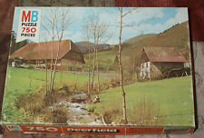 MB Deerfield 4087, 4 Black Forest Spring 750 p Jigsaw Puzzle Complete, 1979
