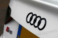 NEW AUDI MATTE BLACK REAR RINGS Trunk Boot Badge Emblem S3 S4 S5 RS6 RS7 TT 7.5""