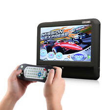 """Black Portable 9"""" Car Headrest Monitor with DVD Player Touch Screen USB SD Audio"""