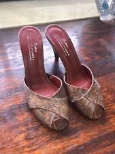Donald Pliner Couture Brown Leather Slide Shoe  Sz 7