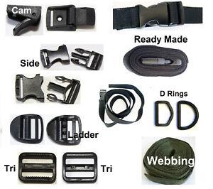 Buckle Side Quick Triglide Cam Clip Strap Belt Webbing Backpack Repair UK