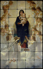 20x32 Bouguereau, Madonna and Child Tumbled Marble Tiles