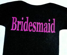 bridesmaid iron on transfer in neon magenta -print for wedding hen party etc.
