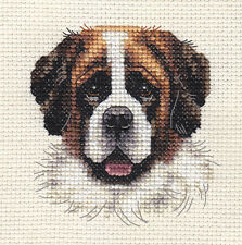 SAINT BERNARD, dog ~ Full counted cross stitch kit with all materials