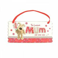 Boofle Loveliest Mum Lives Here Wooden Plaque Lovely Mother's Day Gift