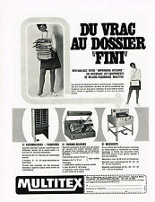 PUBLICITE   1970   MULTITEX   massicots  taqueuses  thermo-relieurs