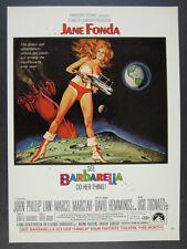 1968 Barbarella movie film promo Jane Fonda space art vintage print Ad