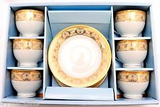 Fine Porcelain Teacups Tea Coffee Cups and Saucers Elegancy China Gold Key