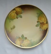 Thomas Sevres Bavaria Yellow Roses Signed and Hand Painted 7.5 Display Plate