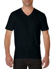 Gildan Algodón Premium Adulto Camiseta con cuello en V - Hombre Informal Suéter