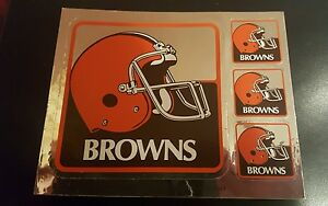 VINTAGE CLEVELAND BROWNS TEAM ISSUED STICKER  STICKERS 1980'S -90'S NFL DAWGS