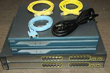 Cisco CCNA CCNP CCIE Lab with 2xCISCO1841 2xWS-C3750-24PS-S 1 YEAR Warranty