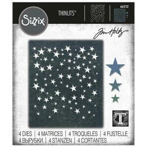 Sizzix Tim Holtz Thinlits Die Set - FALLING STARS - 664732