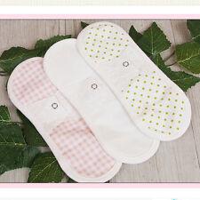 Cotton 100% Cloth Panty Liner Pad Sanitary Menstrual Reusable Washable Korea 3pc