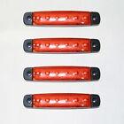 4x 12v LED Rojo Luz Luz de posición lateral Camión Trailer Camión caja furgoneta