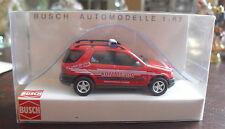 Busch Automodelle HO 1:87 Feuerwehr MB Kommando Fire Vehicle  NIP