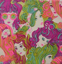 Retro 70's Ladies 8x8 Fabric Block - Buy Any 2 Blocks, Get 3rd FREE!