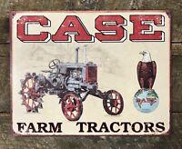 CASE Farm Tractors Vintage-Style Man Cave Barn Tin Metal Sign