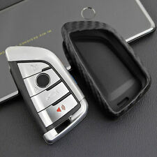 Fiber Style Silicone Smart Key Fob Cover For BMW 1 3 4 5 6 7 X1 X3 Series
