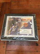 Karl Malone Uda Game-Used Collection Framed 40/40 Lakers