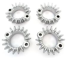Chrome Exhaust Flange - Set of 4 - 18231-333-010 - Honda CB350F/400F/550F/550K
