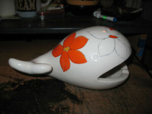 Vintage FF Fitz & Floyd Japan Ceramic Whale Ashtray 1970s Mid Century