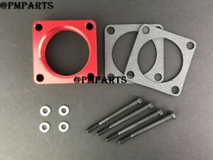 RED Throttle Body Spacer For 05-07 Toyota Matrix / 05-09 Toyota Corolla 1ZZFE