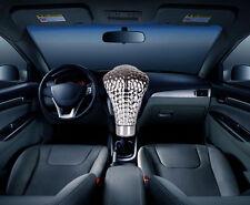 Universal Chrome Blue LED Eyes Car Cobra Manual Gear Shift Knob Snake Shifter
