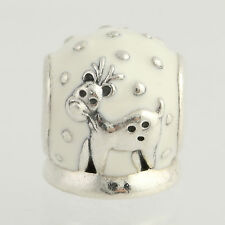 New Pandora Bead Charm - Sterling Silver 791228EN12 Snow Globe White Holiday