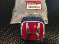 HONDA ACURA GENUINE OEM FRONT RED H BADGE INTEGRA TYPE R DC5 01-04 - B507P BLUE
