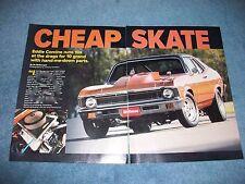 "1971 Chevy Nova Drag Car Article ""Cheap Skate"" 10's for 10 Grand"