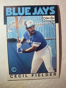 Cecil Fielder Rookie 1986 O-Pee-Chee # 386 - Rare Canadian OPC Card In Nice 🔥🔥