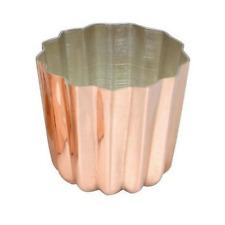 Matfer Bourgeat 340417 Matfer 2 Inch x 2 Inch Cannele Copper Tin Lined Mold,