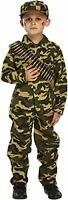 Child Army Military Camouflage Fancy Dress Costume 7-9 years