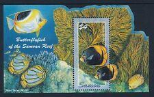 2004 SAMOA BUTTERFLY FISH MINISHEET FINE MINT MNH