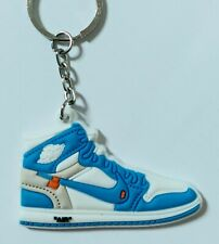OFF-WHITE NIKE AIR JORDAN 1 UNC mini keyring *brand new sealed*
