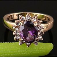 Stunning cool 18k gold filled stylish lady remarkable zircon cut ring 3 SIZE