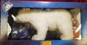 Steiff Polar Bear YUKON QUEST FULDA 038631 NIB goes with husky set 40cm LE